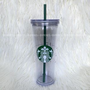 NEW ✨ Starbucks Venti Clear Tumbler 24oz